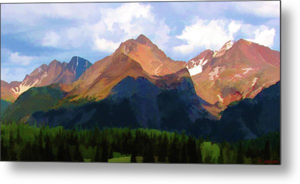 Rocky Red Mountains Metal Print