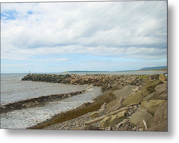 Metal Print featuring the photograph Rocky Shore by Ralph Jones