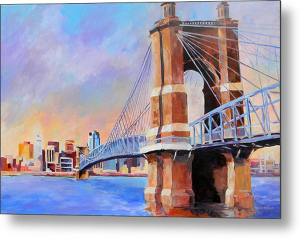 Roebling Twilight Metal Print