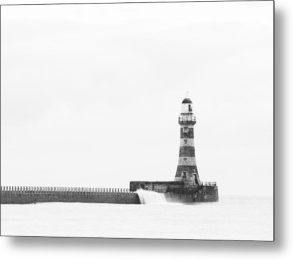 Roker Pier And Lighthouse, Sunderland, Uk Metal Print by Jason Friend Photography Ltd