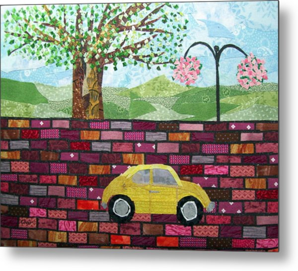 Rolling On The Bricks Metal Print by Charlene White