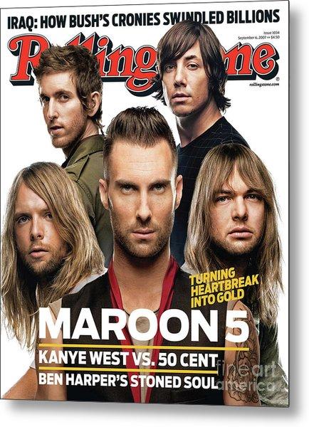 Rolling Stone Cover - Volume #1034 - 9/6/2007 - Maroon 5 Metal Print