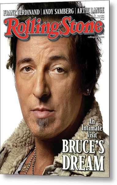 Rolling Stone Cover - Volume #1071 - 2/5/2009 - Bruce Springsteen Metal Print