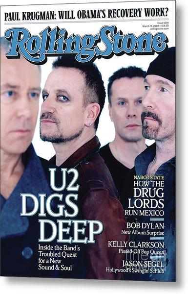 Rolling Stone Cover - Volume #1074 - 3/19/2009 - U2 Metal Print