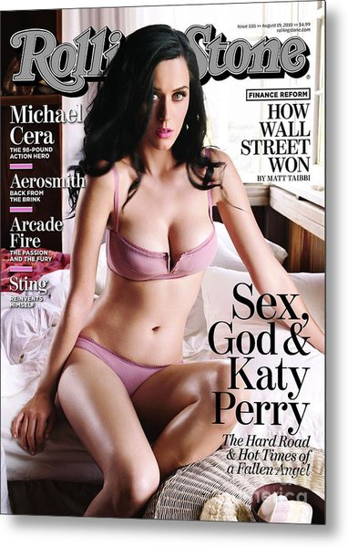 Rolling Stone Cover - Volume #1111 - 8/19/2010 - Katy Perry Metal Print