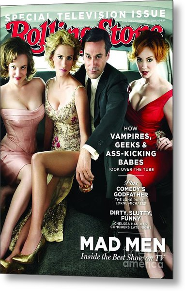 Rolling Stone Cover - Volume #1113 - 9/16/2010 - Cast Of Mad Men Metal Print