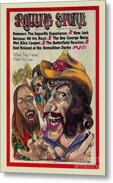 Rolling Stone Cover - Volume #131 - 3/29/1973 - Dr. Hook And The Medicine Show Metal Print