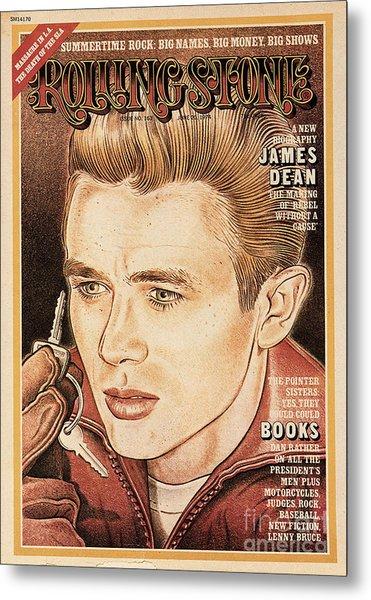 Rolling Stone Cover - Volume #163 - 6/20/1974 - James Dean Metal Print