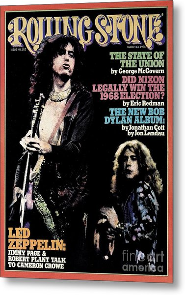 Rolling Stone Cover - Volume #182 - 3/13/1975 - Jimmy Page And Robert Plant Metal Print