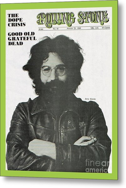 Rolling Stone Cover - Volume #40 - 8/23/1969 - Jerry Garcia Metal Print