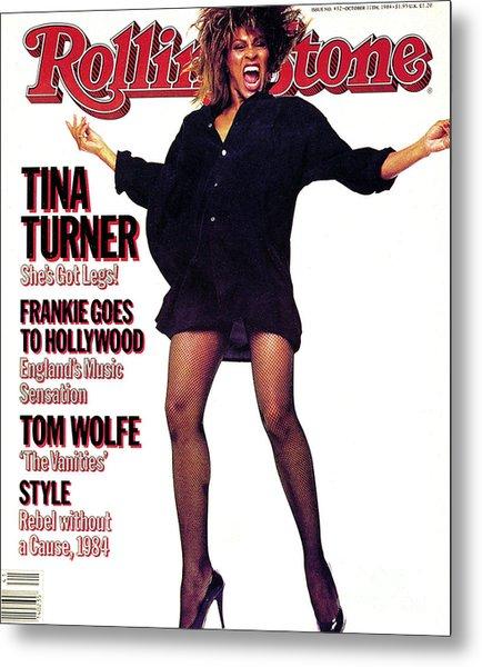 Rolling Stone Cover - Volume #432 - 10/11/1984 - Tina Turner Metal Print by Steve Meisel