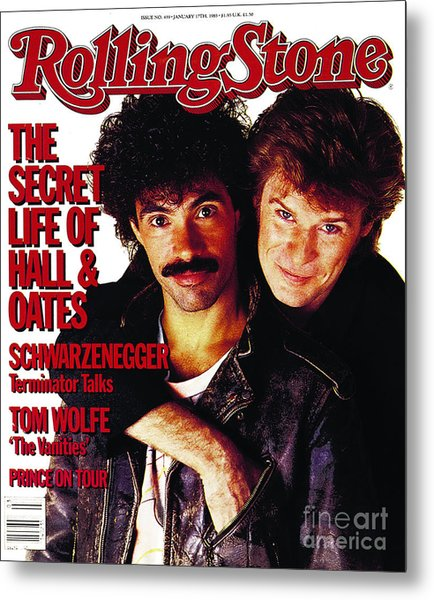 Rolling Stone Cover - Volume #439 - 1/17/1985 - Darryl Hall And John Oates Metal Print