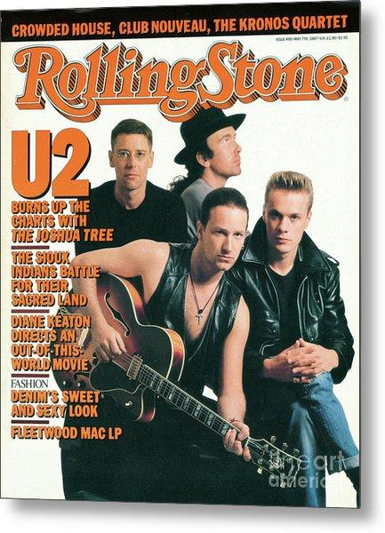 Rolling Stone Cover - Volume #499 - 5/7/1987 - U2 Metal Print