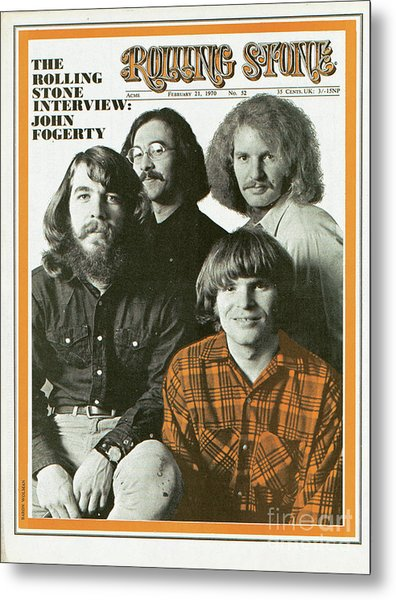 Rolling Stone Cover - Volume #52 - 2/21/1970 - Creedence Clearwater Revival Metal Print by Baron Wolman