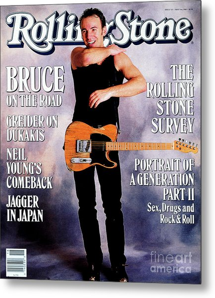 Rolling Stone Cover - Volume #525 - 5/5/1988 - Bruce Springsteen Metal Print