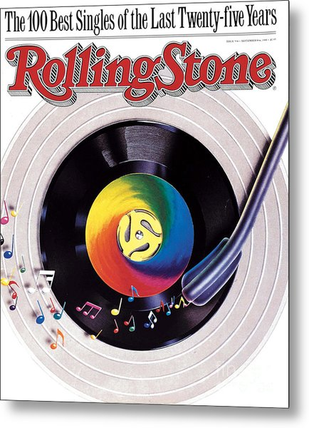 Rolling Stone Cover - Volume #534 - 9/8/1988 - 100 Greatest Singles Metal Print by Steve Pietzsch