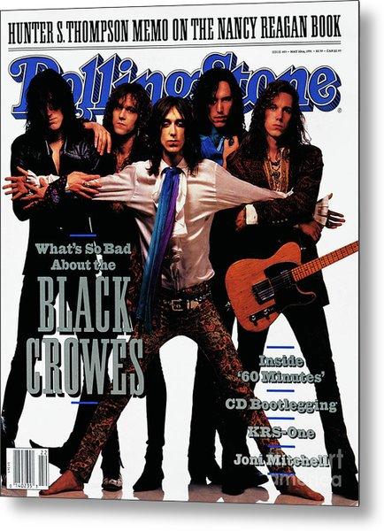 Rolling Stone Cover - Volume #605 - 5/30/1991 - Black Crowes Metal Print