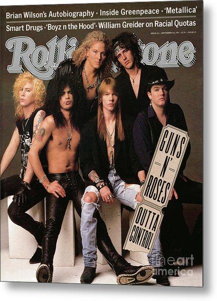 Rolling Stone Cover - Volume #612 - 9/5/1991 - Guns 'n Roses Metal Print