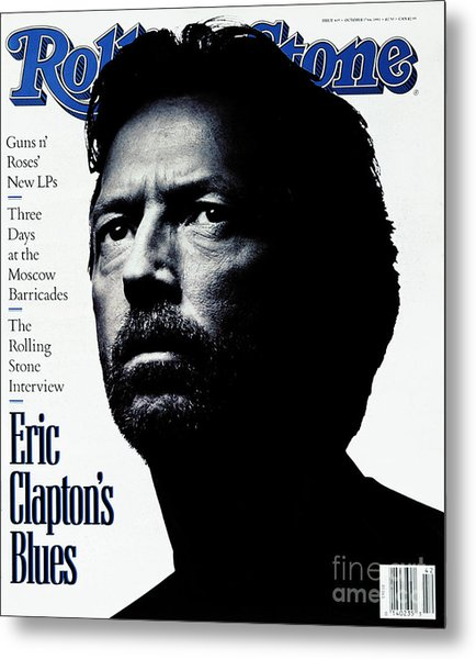 Rolling Stone Cover - Volume #615 - 10/17/1991 - Eric Clapton Metal Print
