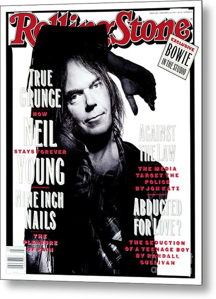 Rolling Stone Cover - Volume #648 - 1/21/1993 - Neil Young  Metal Print by Mark Seliger