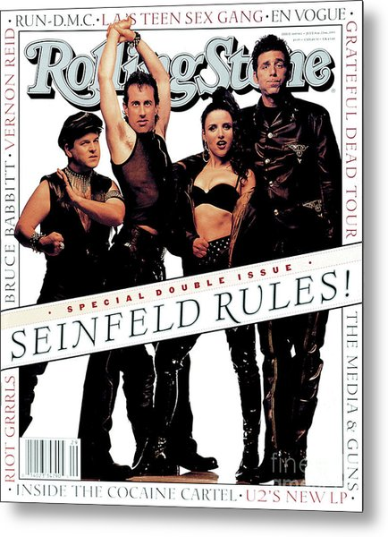 Rolling Stone Cover - Volume #660 - 7/8/1993 - Cast Of Seinfeld Metal Print