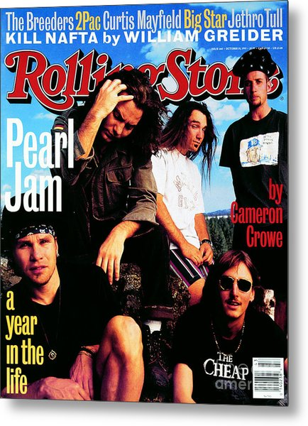 Rolling Stone Cover - Volume #668 - 10/28/1993 - Pearl Jam Metal Print