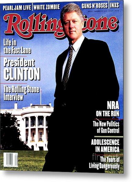 Rolling Stone Cover - Volume #671 - 12/9/1993 - Bill Clinton Metal Print