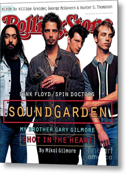 Rolling Stone Cover - Volume #684 - 6/16/1994 - Soundgarden Metal Print