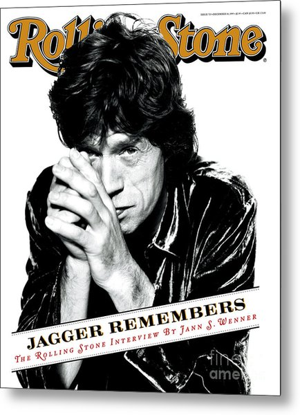 Rolling Stone Cover - Volume #723 - 12/14/1995 - Mick Jagger Metal Print