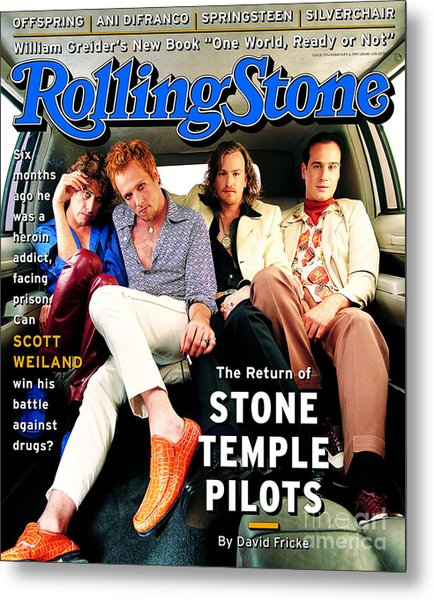Rolling Stone Cover - Volume #753 - 2/23/1997 - Stone Temple Pilots Metal Print