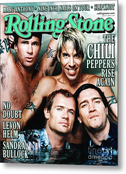 Rolling Stone Cover - Volume #839 - 4/27/2000 - Red Hot Chili Peppers  Metal Print