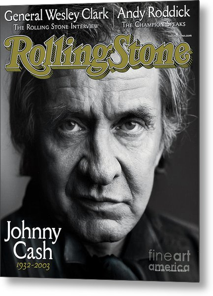 Rolling Stone Cover - Volume #933 - 10/16/2003 - Johnny Cash Metal Print