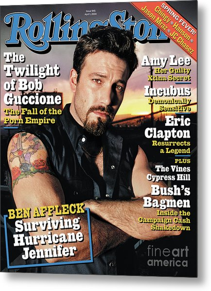 Rolling Stone Cover - Volume #945 - 4/1/2004 - Ben Affleck Metal Print