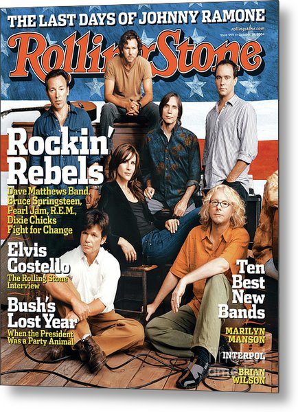 Rolling Stone Cover - Volume #959 - 10/14/2004 - Voices For Change Metal Print by Norman Jean Roy
