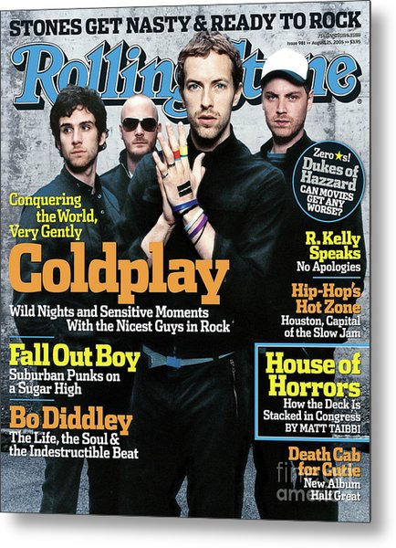 Rolling Stone Cover - Volume #981 - 8/25/2005 - Coldplay Metal Print by Anton Corbijn