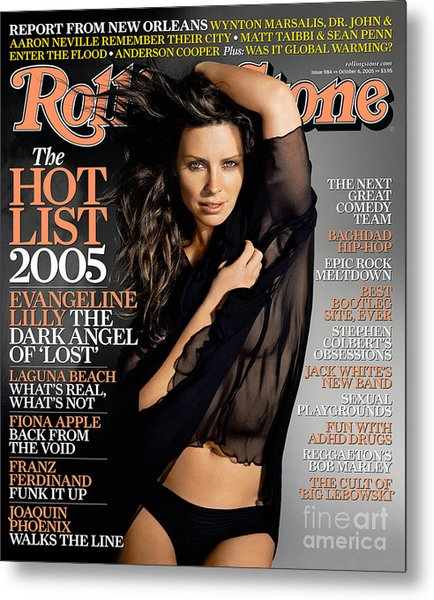 Rolling Stone Cover - Volume #984 - 10/6/2005 - Evangeline Lilly Metal Print