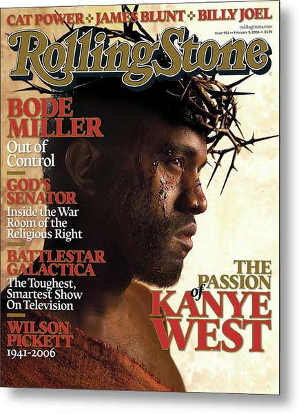 Rolling Stone Cover - Volume #993 - 2/9/2006 - Kanye West Metal Print
