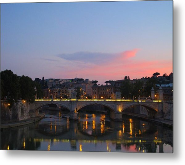 Roma Sunset Metal Print by Tia Anderson-Esguerra