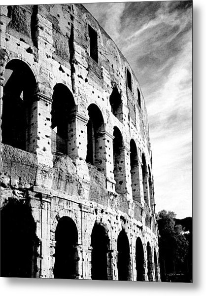 Metal Print featuring the photograph Roman Colosseum by Donna Proctor