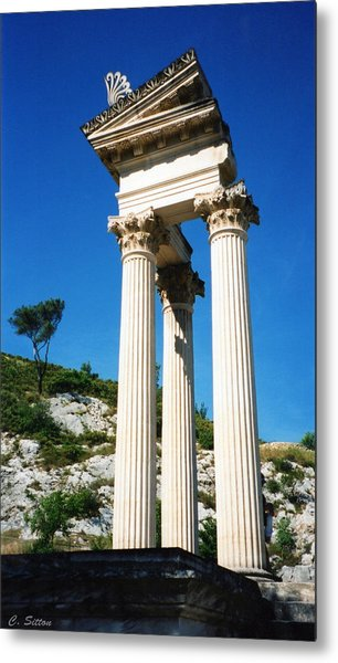 Roman Columns Of Glanum Metal Print