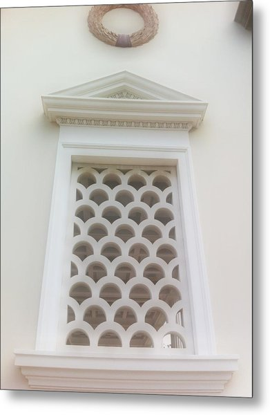 Roman Window Villa Metal Print by Paul Washington