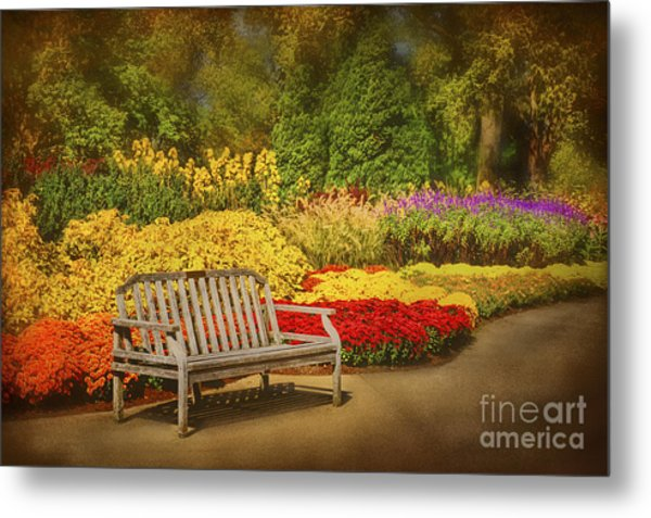 Romantic Flower Garden  Metal Print by Cheryl Davis