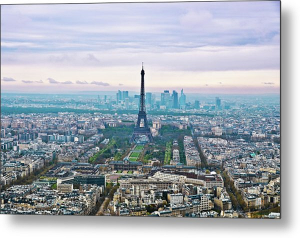 Romantic Paris Metal Print by Photo by Volanthevist