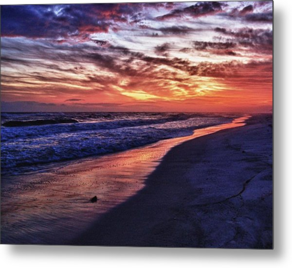 Romar Beach Sunset Metal Print