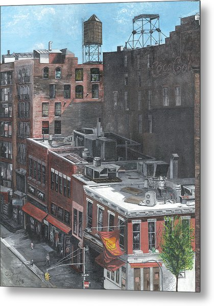 Roof Tops Ny Ny Metal Print