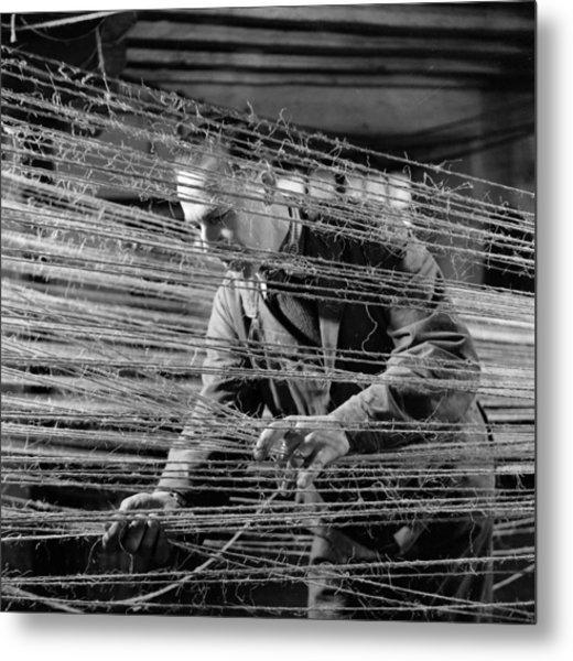 Ropery Worker Metal Print by John Drysdale