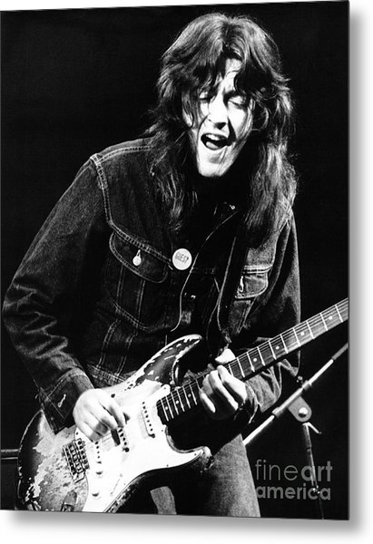 Rory Gallagher 1971 Metal Print by Chris Walter