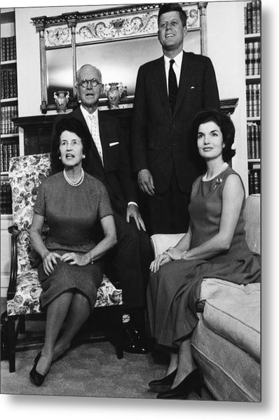 Rose Kennedy, Joseph P. Kennedy, John Metal Print by Everett