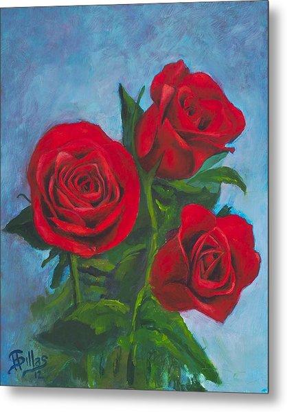 Roses Metal Print by Herman Sillas