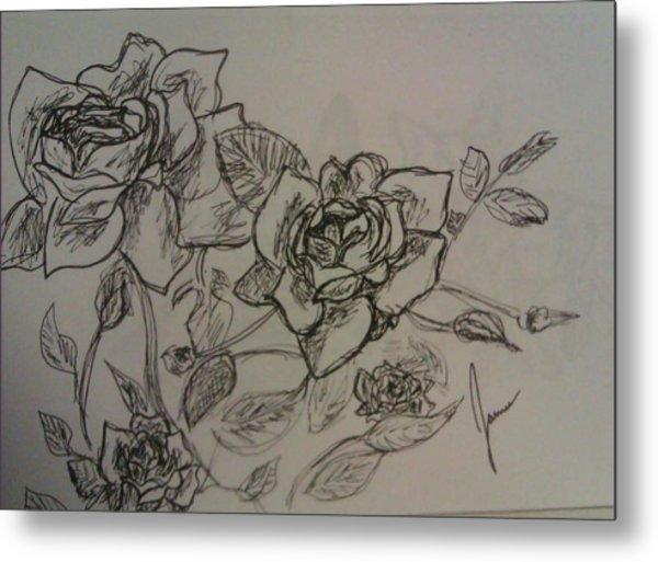 Roses Metal Print by Jamie Mah